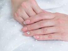 ネイルサロンブラン(nail salon BLANC)/ビジューのブライダルネイル