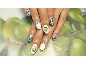 ミニョン ネイル(Mignon Nail)/天然石風art♪