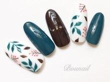 ボネール(nail & eyelash Bounail)/北欧 刺繍 塗りかけ ユニコーン