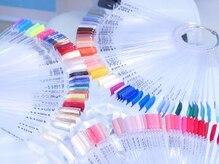 カラーは約200色ご用意。あなたに合ったカラーを♪