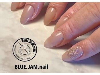ブルージャムネイル(BLUE.JAM.nail)/ワンカラーにポイント3D♪