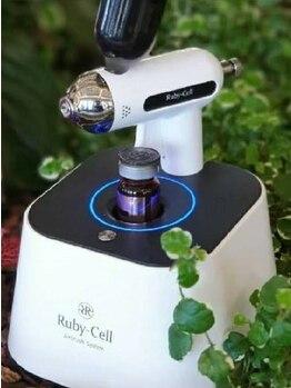 セ レフィーナ 岐阜本店(Se Refina)の写真/ついに登場!非接触型エステ【Ruby-Cell!半顔体験は無料/1回¥2500】ヒト幹細胞培養液を使用したスキンケア★