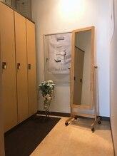 個室のお着替えルーム