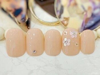 ネイルアンドアイラッシュ ブレス エスパル山形本店(BLESS)/フラワーネイル