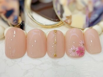 ネイルアンドアイラッシュ ブレス エスパル山形本店(BLESS)/桜ネイル