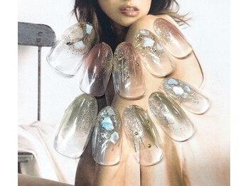 ネイルサロン キャンディネイル(Candy Nail)/クラッシュシェル¥6480by佐合