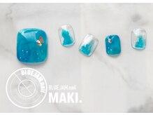 ブルージャムネイル(BLUE.JAM.nail)/フットキャンペーンデザイン☆