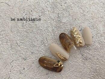 ネイルサロンアンドスクール ビーアンビシャス(be ambitious)/9月マンスリーネイル
