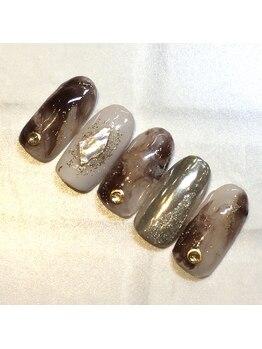 ライト ネイルズ ニシノミヤ(light nails NISHINOMIYA)/秋キャンペーンネイル☆¥7700