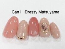 キャンアイドレッシー 松山大街道店(Can I Dressy)/フラワーブローチネイル 4980円