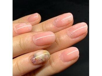 サンネイル(sunnail)/たらし込みフラワー