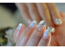 ネイルサロンブラン(nail salon BLANC)/ブルーローズなブライダルネイル