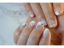 ネイルサロンブラン(nail salon BLANC)/ショートめなブライダルネイル