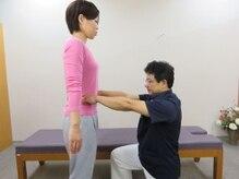 静岡療術整体院/身体の歪みと筋肉の硬さを確認!