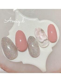 アミーディ ネイル(Amiy.d Nail)/【定額】8800円☆ビッグフラワー