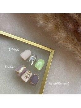 ファーストネイルアンドアイラッシュ 札幌駅前店(1stNAIL&eyelash)/■定額デザイン¥6000■
