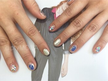 【nail】blue pop 初8,600円