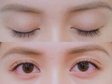 ボネール(nail & eyelash Bounail)/左フラット 右セーブル100本
