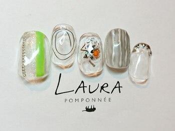 ローラポンポニー(Laura pomponnee)/シルバーパーツをふんだんに