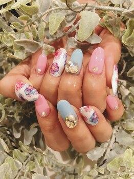 サロンドティアラ(salon de tiara)/春ネイル☆担当富樫