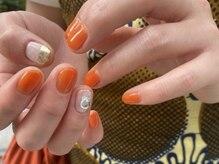 オレンジ×ミラーパーツ