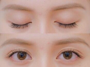 ボネール(nail & eyelash Bounail)/左フラット 右セーブル140本