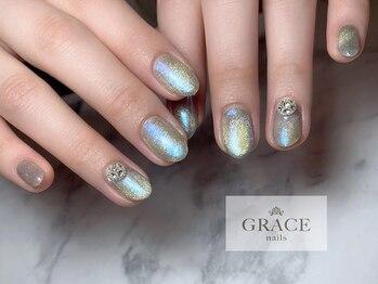 グレース ネイルズ(GRACE nails)/オーロラ×マグネット