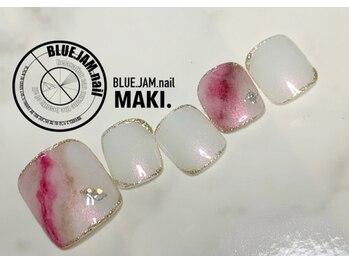ブルージャムネイル(BLUE.JAM.nail)/FOOTネイル☆design by MAKI