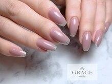 グレース ネイルズ(GRACE nails)/斜めフレンチ