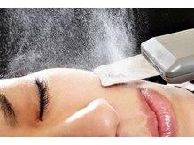 スクライバー洗浄で皮脂・汚れを取り除き、つるつるお肌に♪