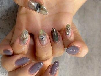 チュラ ネイルサロン アンド アイビューティ(Chula)の写真/【自爪のような自然な長さ出し◎】スラっと長く美しい指先へ☆自爪のお悩みご相談下さい♪