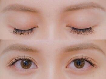 ボネール(nail & eyelash Bounail)/左フラット 右セーブル160本