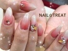 ネイルトリート ルクソー イオン茨木店(NAIL TREAT)の雰囲気(ホワイトとピンクのグラデーション♪)