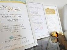 日本爪肌美容検定協会アンバサダーも務め、知識豊富な信頼サロン