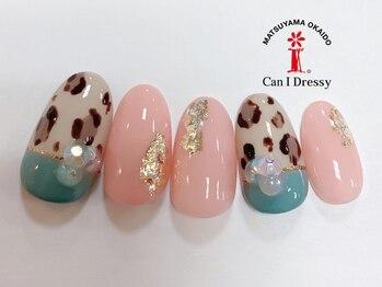 キャンアイドレッシー 松山大街道店(Can I Dressy)/春感レオパードネイル 5500円