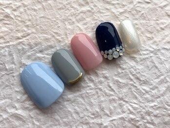ネイルアンドアイラッシュ ブレス エスパル山形本店(BLESS)/彩り大人カラー☆