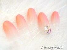 ラグジュアリーネイルズ カワグチ(Luxury Nails Kawaguchi)/大人気♪Vカットビジューネイル