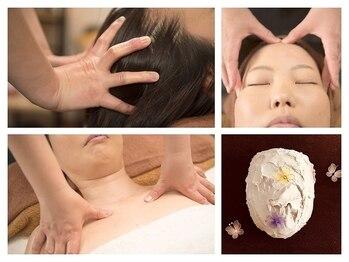 プレレフア(pulelehua)の写真/頭・首筋~デコルテまでしっかり流し+顔の筋肉にアプローチ!施術後は理想のフェイスライン&目元ぱっちり♪