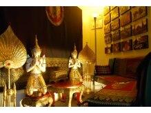 タイ古式マッサージアユタヤの雰囲気(タイ雑貨、お香の香り…まるでタイにトリップしたかの様な空間!)