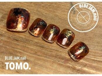 ブルージャムネイル(BLUE.JAM.nail)/9月フットキャンペーンデザイン