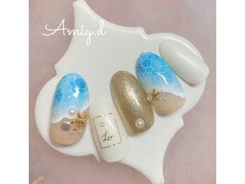 アミーディ ネイル(Amiy.d Nail)/【定額】8800円☆水面ネイル
