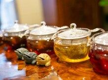 百会の雰囲気(施術後は香りが良い中国お茶を身体を奥から温まります。)