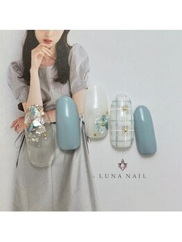 ルナ ネイル(LUNA NAIL)/シェル×チェック