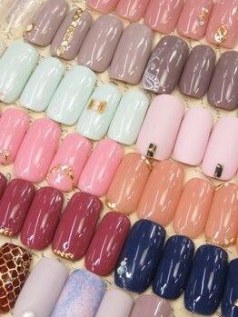 ネイルサロン キャンディネイル(Candy Nail)/ワンポイントアート☆¥4860