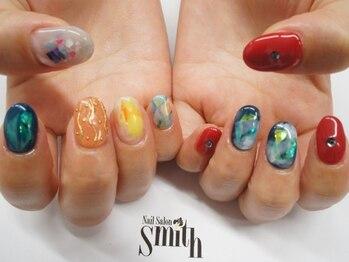 ネイルサロン Smith(スミス)/天然石風ジェル8802円
