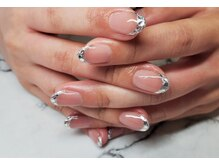 ネイルサロンブラン(nail salon BLANC)/ガラスフレンチブライダルネイル
