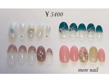 モアネイル(more nail)/8月定額デザイン¥5400