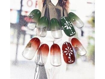 ネイルサロン キャンディネイル(Candy Nail)/お花デザイン¥5400by石塚