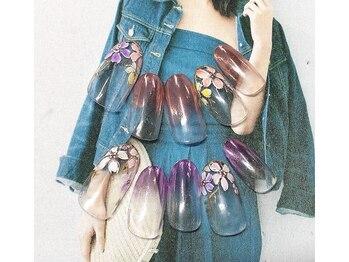 ネイルサロン キャンディネイル(Candy Nail)/ミラーグラデ¥5400by増田