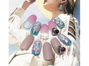 ネイルサロン キャンディネイル(Candy Nail)/シェルネイル¥6480by星
